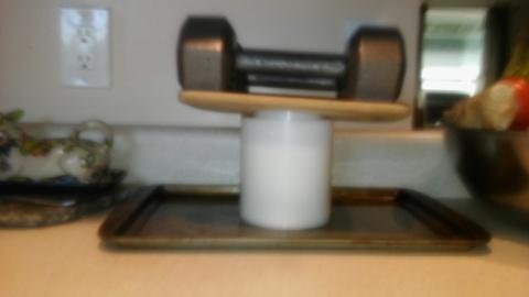 Makeshift Cheese Press